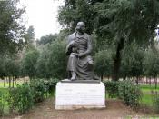 A more conventional statue of Gogol at the Villa Borghese, Rome.