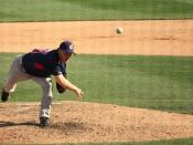 English: Matt Herges of the Cleveland Indians, Relief Pitcher