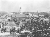Market day, Rush City, Minnesota, 1922.