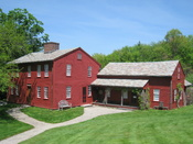 Fruitlands Museum, Harvard, Massachusetts, USA. Exterior of the farmhouse in which Bronson Alcott and family lived.