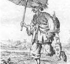 English: An ancient Chinese drawing depicting an ancient China mail carrier (courier). Русский: Древнекитайский рисунок, отображающий деятельность почты (почтового пешего гонца).
