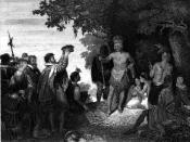 First Contact between European Explorers and Iroqoises