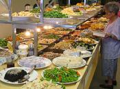 English: Chinese Buddhist Cuisine. Vegetarian restaurant buffet, Taipei.