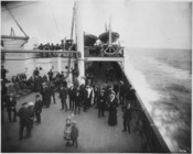 Uncaptioned photograph of a ship deck that was similar to the Titanic - NARA - 278332