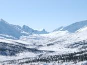 English: Tombstone Mountains, Yukon Territory, (near Dawson City); March 2008