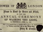 English: A ticket to the washing of the lion, a traditional April fool's prank