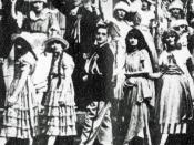 As René (centre) in A Night Out (1920)