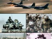 English: Gulf War photo collage for use in the infobox