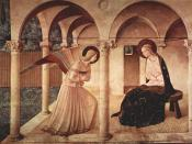 Annunciation, painted by Fra Angelico (1387-1455) (Florence)