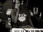 music producer Miles D in Studio