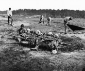 Cold Harbor, Va. African Americans collecting bones of soldiers killed in the battle.