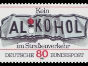 No driving when drunk alcohol :*Graphics by Gamroth :*Ausgabepreis: 80 Pfennig :*First Day of Issue / Erstausgabetag: 15. Juli 1982 :*Michel-Katalog-Nr: 1145
