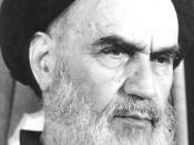 English: Ruhollah Khomeini فارسی: امام خمینی (احتمالاً هنگام معرفی دولت موقت)