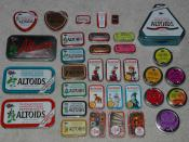 Image of different types of Altoids Tins