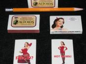 Matchboxes used as advertisement to promote new CINNAMON Altoids