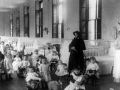 English: Sister Irene and children at New York Foundling orphanage