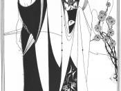 Iokanaan and Salome. Illustration by Aubrey Beardsley for the 1893 edition of Salome.