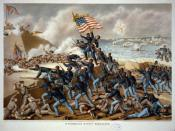The Storming of Fort Wagner, the most famous battle fought by the 54th Massachusetts.
