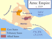 Aztec empire on the eve of the Spanish Invasion