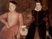 English: Mary, Queen of Scots, and her second husband Henry Stuart, Lord Darnley, parents of King James VI of Scotland, later King James I of England. Lord Darnley is on the left, Queen Mary on the right.