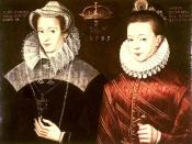 Mary Stuart, Queen Maria I. of Scotland, and her son James, the later King James I. of England, 1583
