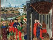 Giovanni Boccaccio and Florentines who have fled from the plague.