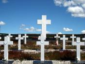 Argentine cemetery at East Falkland