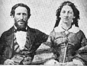 English: This is a photo of James F. and Margaret (Keyes) Reed, who were members of the Donner Party. Margaret died about 1862, and James died in 1874. The original photo is at the Bancroft Library, University of California, Berkeley. The photographer is