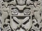 English: Gen Sir Arthur William Currie arms, Currie Building, Royal Military College of Canada