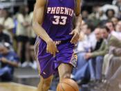 , American basketball player for the Phoenix Suns (at time of photo)