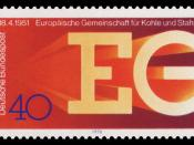 25 years European Coal and Steel Community ECSC :*Ausgabepreis: 40 Pfennig :*First Day of Issue / Erstausgabetag: 6. April 1976 :*Michel-Katalog-Nr: 880 :*Graphic-Designer:Kroehl