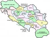 English: Map of the eparchies if the Serbian Orthodox Church in Former Yugoslavia
