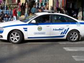 English: Jordanian Audi Police automobile in Amman, Jordan.
