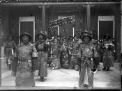 Empress Dowager Cixi with her niece Yehonala (far right) and other court ladies.