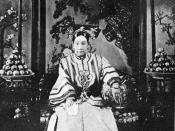 English: Dowager Empress of China Tzu Hsi (1835-1908). Photograph taken in China in 1903.
