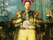 Painting of the Dowager Empress Cixi (Tzu Hsi)