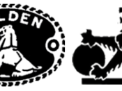 The 1972 Holden logo evolved from the original designed by Hoff in 1928 (left).