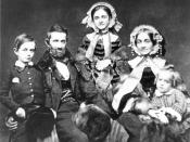 Silas Titus and Family circa 1858; L to R Silas Wright Titus, Silas, Mary, Eliza and Robert