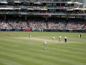 A cricket field is slightly larger than 10,000 m².