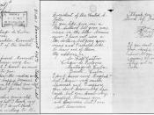 Photocopy created by United States Archives of all three pages of a letter written on November 6, 1940 by Fidel Castro Ruz to President of the United States Franklin Delano Roosevelt. The letter is the property of the US government held in US Archives (AR