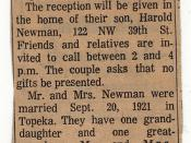 Newman Anniversary