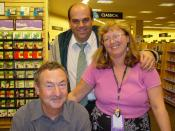 Nick Mason at a booksigning (probably for Inside Out, his book on the history of Pink Floyd)