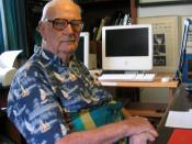 Arthur C. Clarke at his home in Colombo, Sri Lanka, 28 March 2005.