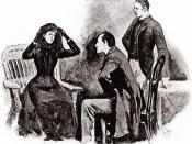 Illustration of the Sherlock Holmes short story The Speckled Band.