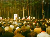 Dziady 1989, meeting in Kurapaty, Belarus.