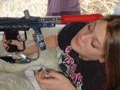 Carly and paintball gun