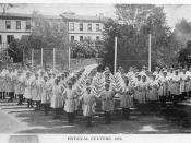 Physical education class at Nelson College for Girls - Photographer unidentified, 1913