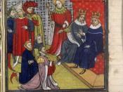 English: Gontran (roi) et Childebert II Bourgogne. Lëtzebuergesch: De Gontran I. an de Childebert II. vu Frankräich. Русский: Гунтрам и Хильдеберт, миниатюра из Больших французских хроник.