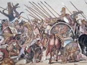 Detail of Alexander Mosaic, showing Battle of Issus, from the House of the Faun, Pompeii
