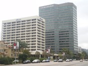 English: Citibank and City National Bank Buildings, Ventura & Sepulveda Blvds., Sherman Oaks, Los Angeles, CA